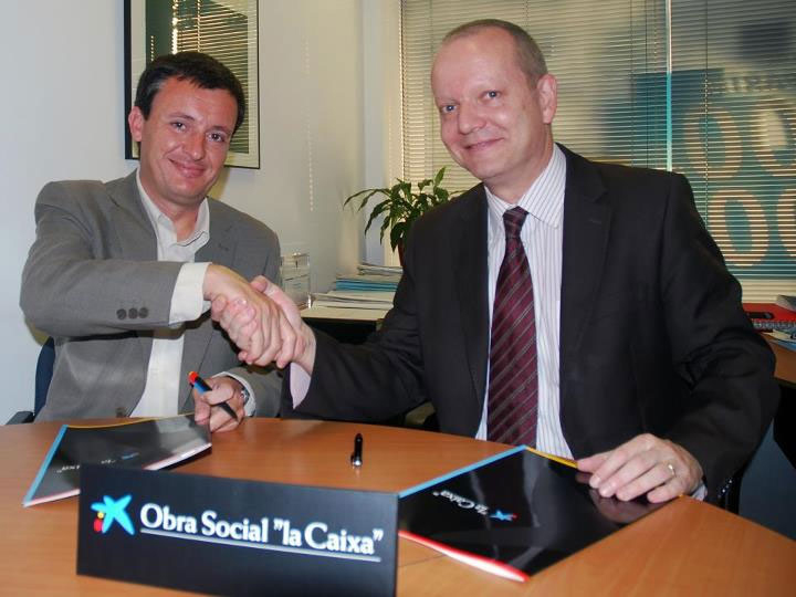 Noticias firmado convenio fesoca y la caixa for Caixa de catalunya oficinas
